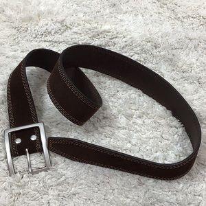 J Crew brown suede belt 34